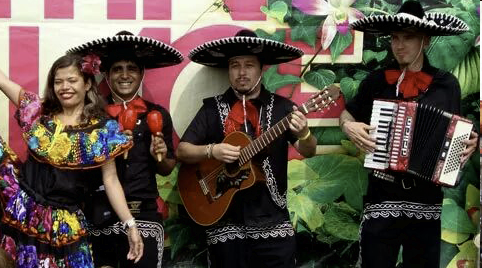 Vuurshow Mexicaanse Feest